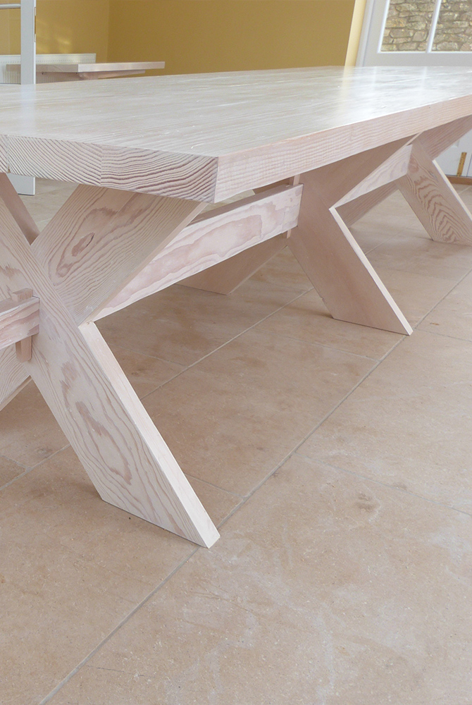 Limed Oak Dining Table jmw furniture