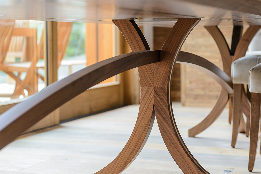 arc dining table jmw furniture