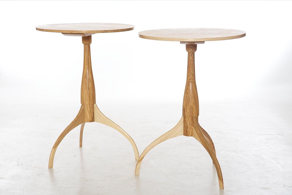 olive ash shaker side tables