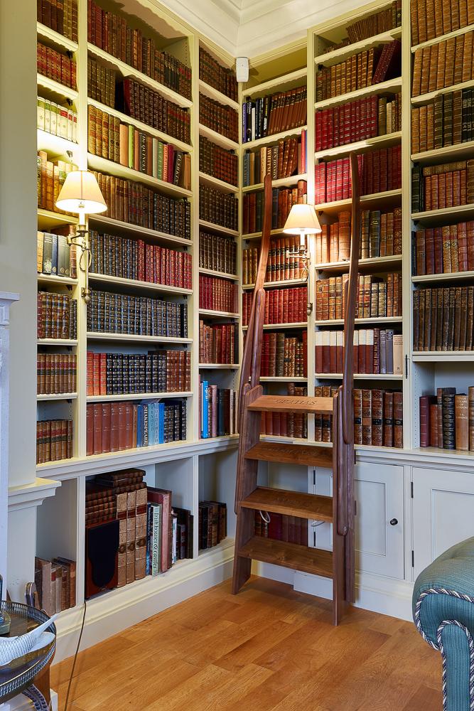 walnut library steps jmw furniture
