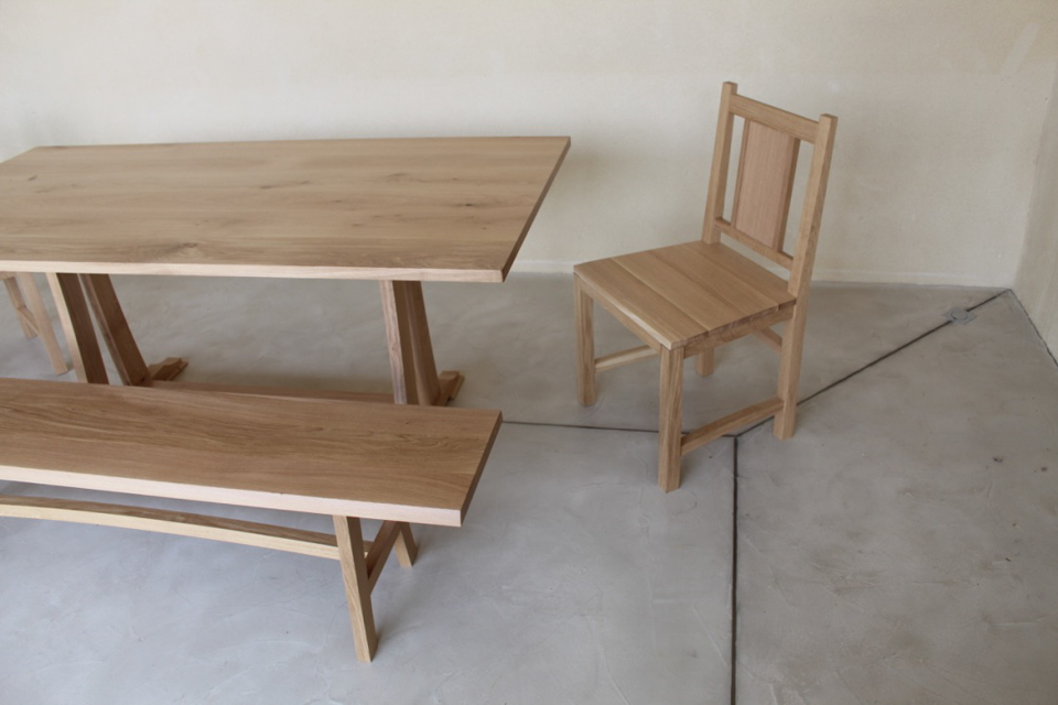 limed oak table and chairs JMW furniture